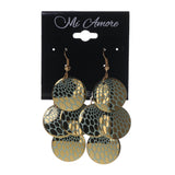 Gold-Tone & Green Colored Metal Chandelier-Earrings #LQE1811