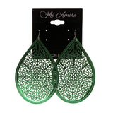 Green Metal Dangle-Earrings #LQE1883
