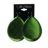 Green Metal Dangle-Earrings #LQE1937