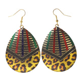 Colorful  Cheetah Print Dangle-Earrings #LQE1943