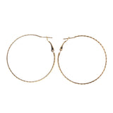 Gold-Tone Metal Hoop-Earrings #LQE1996