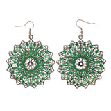 Colorful  Flower Dangle-Earrings #LQE2072