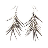 Silver-Tone Metal Dangle-Earrings #LQE2082