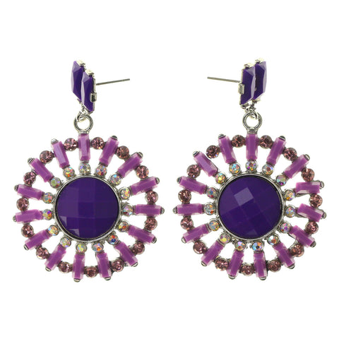Colorful  AB Finish Drop-Dangle-Earrings #LQE2247