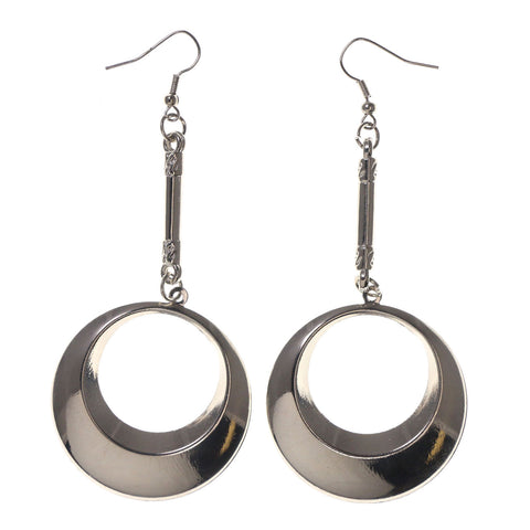 Silver-Tone Metal Dangle-Earrings #LQE2378