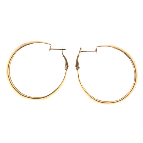 Star Hoop-Earrings Gold-Tone Color  #LQE2448