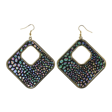 Colorful  Glitter Sparkle Rainbow Dangle-Earrings #LQE2543