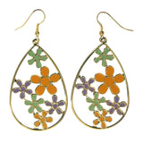 Colorful  Flower Dangle-Earrings #LQE2584