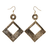 Gold-Tone Metal Dangle-Earrings #LQE2595