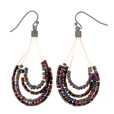Colorful  AB Finish Dangle-Earrings #LQE2623