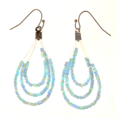 Colorful  AB Finish Dangle-Earrings #LQE2628