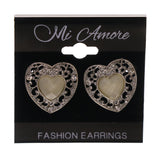 Colorful  Heart Stud-Earrings #LQE2672