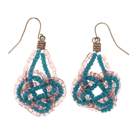 Colorful  Knot Dangle-Earrings #LQE2697
