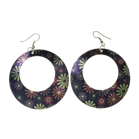 Colorful  Flower Dangle-Earrings #LQE2768