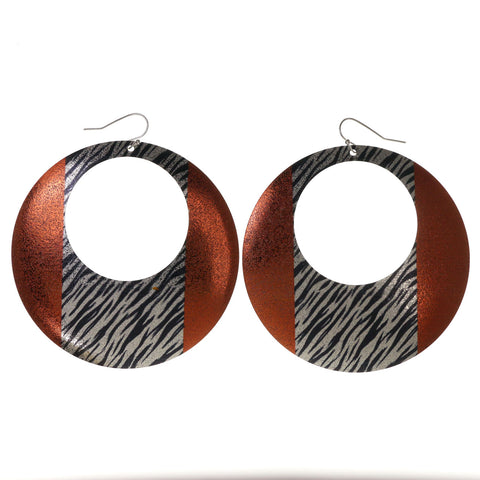 Colorful  Zebra Print Dangle-Earrings #LQE2781