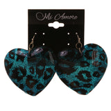 Colorful  Glitter Sparkle Cheetah Print Dangle-Earrings #LQE2841