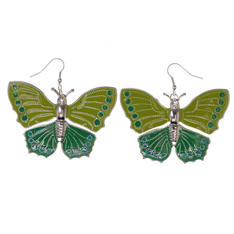Colorful  Butterfly Dangle-Earrings #LQE3013