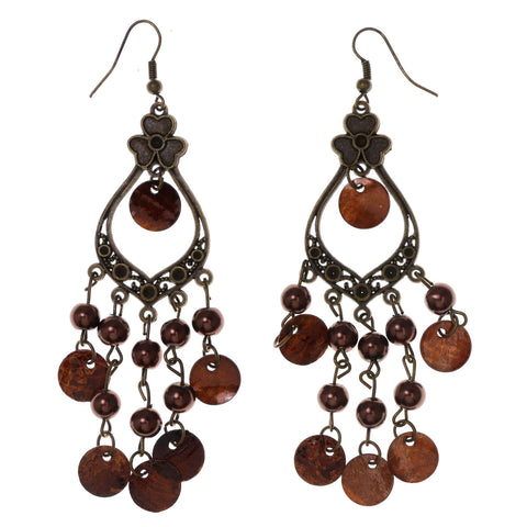 Colorful  Flower Antique Dangle-Earrings #LQE3045
