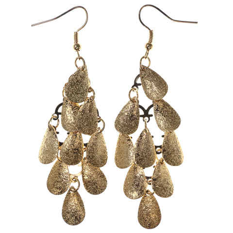 Gold-Tone Metal Chandelier-Earrings #LQE3952