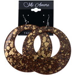 Mi Amore Paint Splatter Dangle-Earrings Brown/Black