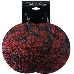 Mi Amore Rose Dangle-Earrings Red/Black