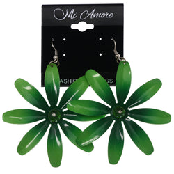 Mi Amore Flower Dangle-Earrings Green