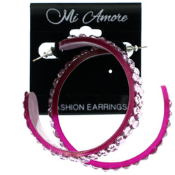 Mi Amore Dangle-Earrings Pink/Purple