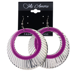 Mi Amore Dangle-Earrings Silver-Tone/Purple