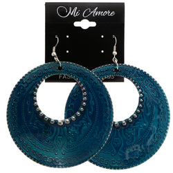 Mi Amore Dangle-Earrings Blue/Silver-Tone