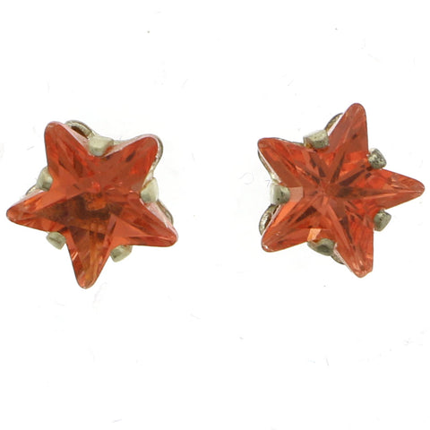 Mi Amore Star Stud-Earrings Orange/Gold-Tone