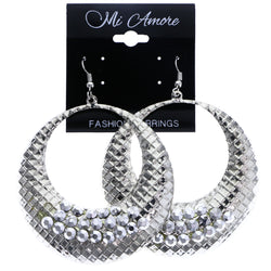 Mi Amore Dangle-Earrings Silver-Tone