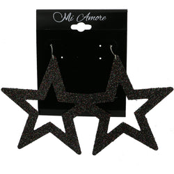 Mi Amore Star Dangle-Earrings Black/Multicolor