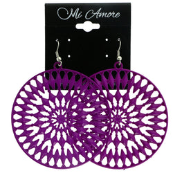 Mi Amore Dangle-Earrings Purple