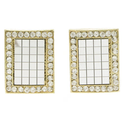 Mi Amore Mirror Post-Earrings Silver-Tone/Gold-Tone