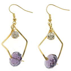 Mi Amore Drop-Dangle-Earrings Gold-Tone & Purple