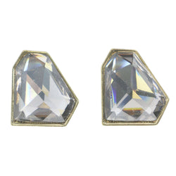 Mi Amore Reflective Post-Earrings Gold-Tone/Clear