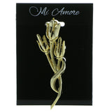 Mi Amore Tulips Brooch-Pin Gold-Tone
