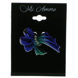 Mi Amore Ribbon Brooch-Pin Blue/Green