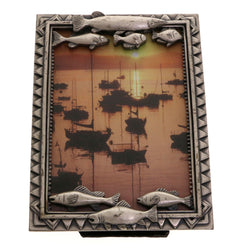 Mi Amore Fish Picture-Frame Pewter
