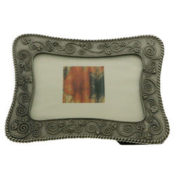 Mi Amore Flower Picture-Frame Pewter