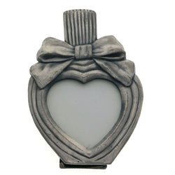 Mi Amore Heart Picture-Frame Pewter