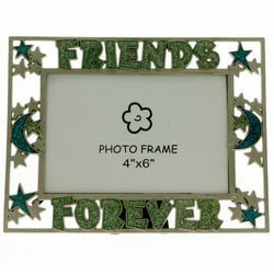 Mi Amore 4x6in. Friends Forever Picture-Frame Green & Blue