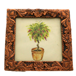 Mi Amore Heart Flower Picture-Frame Bronze-Tone