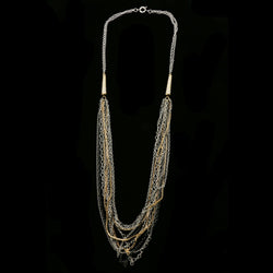 Luxury Crystal Necklace Gold/Black NWOT
