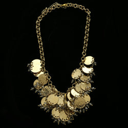 Luxury Hmmered Finish Necklace Gold NWOT