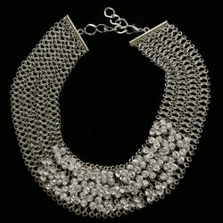 Luxury Crystal Necklace Silver NWOT