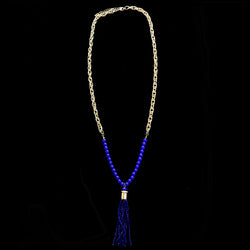 Luxury Necklace Gold/Blue NWOT