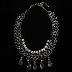 Luxury Crystal Choker-Necklace Gunmetal NWOT