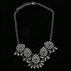 Luxury Crystal Necklace Gunmetal NWOT
