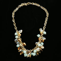 Luxury Faceted Necklace Gold/Green NWOT